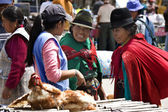 Ecuadorian women in Saquisili - Ecuador — Stock Photo