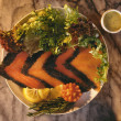 Stock Photo: ScandinaviSalmon Gravlax