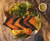 Scandinavian Salmon Gravlax — Stock Photo