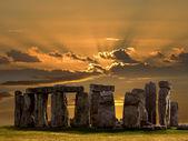 巨石阵-salsbury 平原-英格兰. — 图库照片