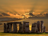 Stonehenge - salsbury plain - angleterre. — Photo