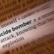 Suicide Bomber - Dictionary Definition - Stock Photo