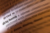 Dirty Bomb - Dictionary Definition — Stock Photo