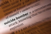 Suicide Bomber - Dictionary Definition — Stock Photo