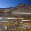 Laguna Miscanti in the Atacama Desert - Chile - Stock Photo