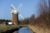 Horsey Windpump - Norfolk Broads - England — Stock Photo