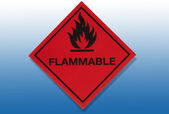 Hazard Warning Sign - Flammable — Stok fotoğraf