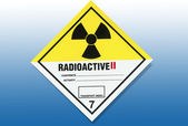 Hazard Warning Sign - Radiation — Stock Photo