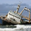 Shipwreck - Skeleton Coast - Namibia - Stock Photo