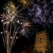 Firework Display on 5th November in England - Stock Photo