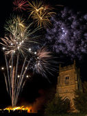 Firework Display on 5th November in England — Stock Photo