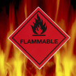 Stock Photo: Flammable - Warning Sign