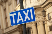 Taxi Stand Sign — Stock Photo