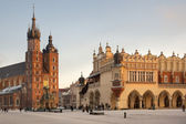 Main Market Square - Krakow - Poland — Stock Photo