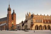 Main Market Square - Krakow - Poland — Stock Photo