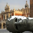 图库照片: Eros Bound Sculpture - Krakow - Poland