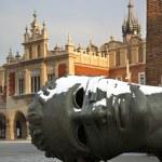 Eros Bound Sculpture - Krakow - Poland — Stock Photo