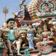 Sri Mariamman Hindu Temple - Singapore — Stock Photo