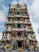 The Sri Mariamman Hindu Temple in Singapore — Stock Photo