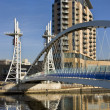 Millennium Bridge - Salford Quays - England — Stock Photo