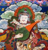 Tibet - Buddhist Art - Drepung Monastery — Stock Photo