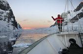 Canal lamaire - antártica — Foto Stock