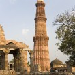 Qutb Minar - Delhi - India - Stock Photo