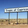 Tropic of Capricorn sign - Namibia — Stock Photo