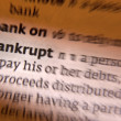 Bankrupt - Dictonary Definition — Stock Photo
