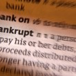 Stock Photo: Bankrupt - Dictonary Definition