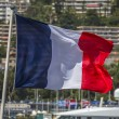 French Flag - Nice - South of France — Stock Photo