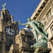 The Liver Building - Liverpool - England - Stok fotoğraf