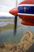 Flying over the Falkland Islands — Stock Photo