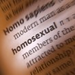 Homosexual - Dictionary Definition — Stock Photo