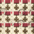 Victoria Cross Medal - British Postage Stamps - Stock Photo