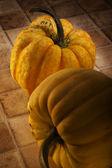 Small pumpkin type squashes — Stock Photo