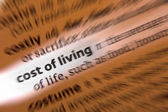 Cost of Living - Dictionary Definition — Stock Photo