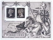 Celebratory First Day Cover - Penny Black — Stock Photo
