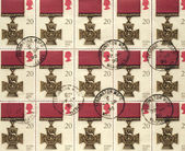Victoria Cross Medal - British Postage Stamps — Stock Photo