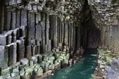 Fingals Cave - Basalt Rock Formation - Scotland — Stock Photo