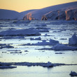 Midnight Sun - Antarctica - Stock Photo