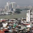 Looking across the Pearl River from Macau to mainland China — Stock Photo