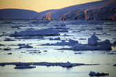 Midnight Sun - Antarctica — Stock Photo