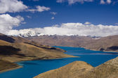 Yamdrok High Pass - Turquoise Lake - Tibet — Stock Photo