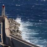 Breakwater - Rough Sea — Stock Photo