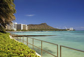 Diamond Head - Waikiki Beach - Hawaii — Stock Photo