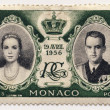 Postage stamp from Monaco - Philately — Stock Photo