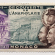 Postage stamp from Monaco - Philately - Stock Photo