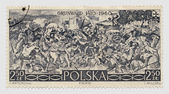 Polish Postage Stamp - Philately — Stock Photo