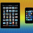 Apple iPad2 - iphone4 - Stock Photo